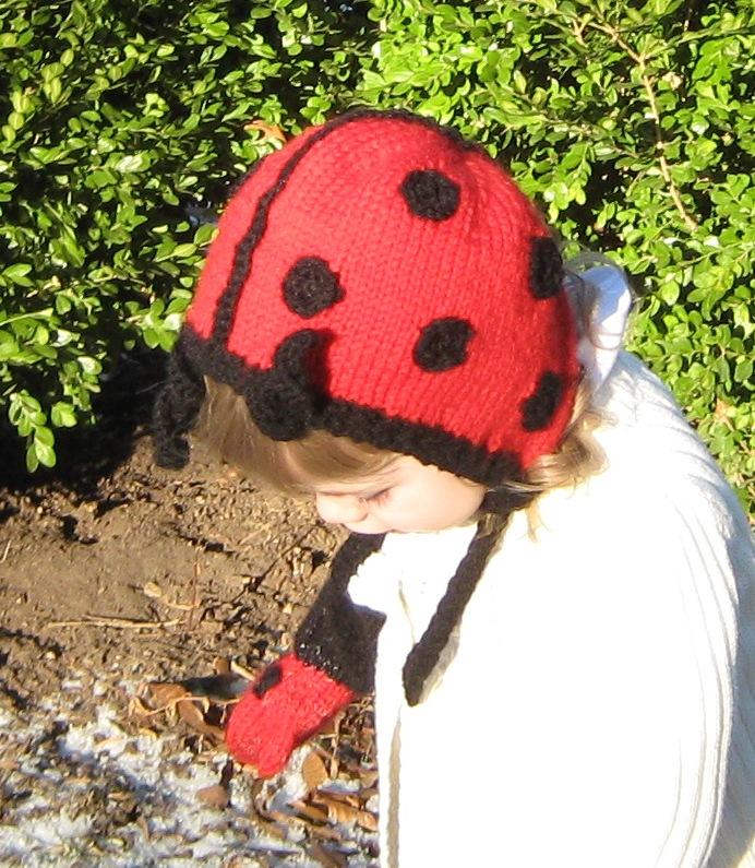 lady bug bonnet with antennae
