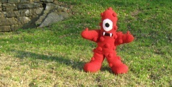 Crocheted muno plush