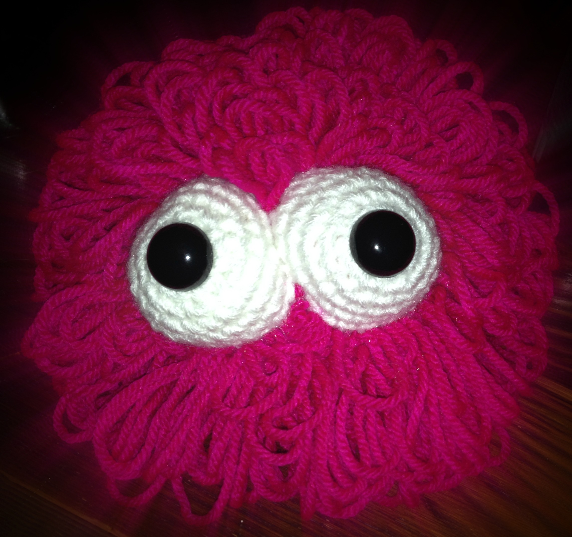 Crocheted monster