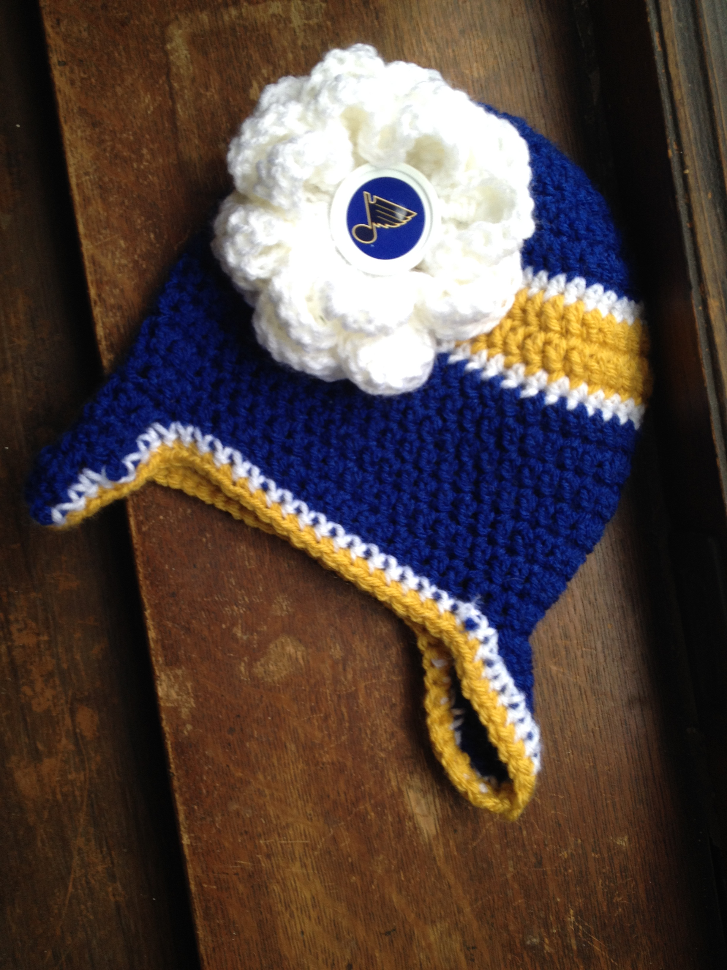 Crocheted St. Louis Blues Hat